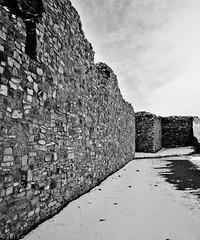 NMTXRoadtrip2013: Gran Quivira San Buenaventura Church Wall Ruins #2 (wanderingYew2 (thanks for 3M+ views!)) Tags: blackandwhite snow newmexico 120 mamiya film archaeology mediumformat geotagged ruins 6x7 nationalmonument filmscan churchruins blackandwhitefilm salinaspueblomissions granquivira mamiya7ii salinaspueblomissionsnationalmonument geo:lat=3425962174145827 geo:lon=10609229385856906