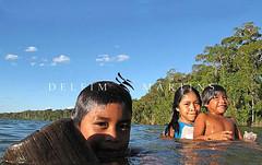 Crianças Da Adeia (poffofernandoluiz@globomail.com) Tags: lago cerrado crianças banho brincadeira aldeia índios kalapalo regiãocentrooeste parqueindígenadoxingu índigenas