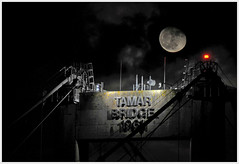 Tamar Bridge & Moon (jamiegaquinn) Tags: bridge moon tamar saltash tamarbridge iplymouth
