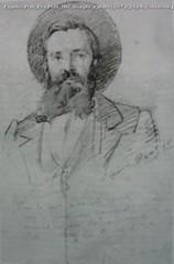 Eugenio Prati Elia Prati 1862 disegno a matita 30.7 x 24 cm Collezione privata