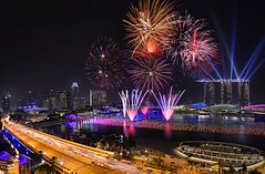 01 Jan 2014_D800_Countdown_Lighthouse Fullertion_panaroma (Andrew JK Tan) Tags: skyline nikon singapore cityscape fireworks newyear celebrations esplanade countdown mbs d800 marinasquare 2014 onefullerton marinabaysands