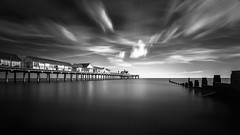 Southwold III (Scott Baldock) Tags: uk longexposure sea seascape art clouds pier suffolk seaside key low fine filter northsea daytime groyne southwold density neutral canon6d scottbaldockphotography
