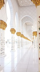 Sheikh Zayed Grand Mosque (Mink) Tags: city wedding bus architecture big tour january grand arches mosque zayed abu dhabi sheikh guided 2014
