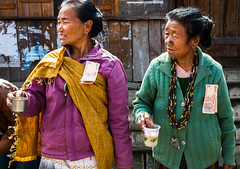Free beer! (rob of rochdale) Tags: india beer rice indian culture tribal alcohol tradition tribe arunachalpradesh ziro animists noseplugs ricebeer donyipolo robhaich