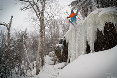 Iannick Backside drop (Charles Trudeau) Tags: cliff snow ski ice skiing qubec sutton glace powderday contreplonge easterntownships dropping montsutton cantonsdelest horspiste secteur skitheeast 4frnt easternlove backsidesutton