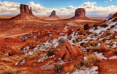 Winter Morning in Monument Valley (Jeff Clow) Tags: winter snow cold landscape seasons monumentvalley jeffrclow