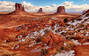 Winter Morning in Monument Valley (Jeff Clow) Tags: winter snow cold landscape seasons monumentvalley ©jeffrclow