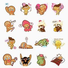 LINE แจกฟรีสติ้กเกอร์เกม Cookie Run #line #sticker