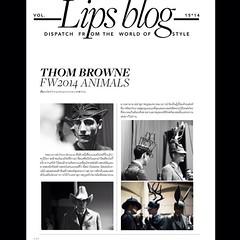 Stay update with creative article written by Rewat Chumnarn in new issue of LIPS. - บทความสร้างสรรค์เรื่องใหม่ของ เรวัฒน์ ชำนาญ หัวเรื่องเกี่ยวกับคอลเล็กชั่นใหม่สุดสร้างสรรค์จาก ทอม บราวน์ ... ติดตามอ่านได้ในลิปส์ฉบับล่าสุด ขอบคุณฮะ