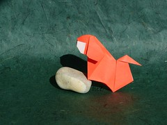 Simple little Dog by Barth Dunkan (aka Magic Fingaz) (esli24) Tags: origami origamidog papierfalten simpledog singlesheetorigami magicfingaz barthdunkan esli24 ilsez origamihund simplelittledog