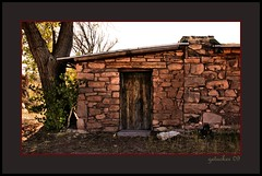 Hubbell Trading Post (the Gallopping Geezer 3.5 million + views....) Tags: old arizona building abandoned train canon wagon cowboy desert decay indian structure historic nativeamerican trail faded trading worn western weathered aged hubbell trade 2009 wildwest decayed geezer americanindian corel oldwest tradingpost