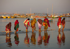 Pilgrims Bathing In Ganges, Maha Kumbh Mela, Allahabad, India (Eric Lafforgue Photography) Tags: travel people india reflection tourism water festival river outdoors photography bath asia day religion bank event spirituality bathing multicolored riverbank hinduism pure sari pilgrimage religiouscelebration pilgrim sangam humaninterest allahabad socialgathering haridwar purification vibrantcolor gangesriver yamunariver uttarpradesh realpeople kumbhmela traveldestinations colorimage smallgroupofpeople indianculture fulllenght uttarakhand indiansubcontinent 3424 traditionalcloth celebrationevent traditionalceremony indianethnicity