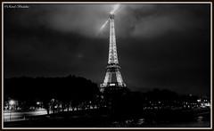 Night in Black & White (Renal Bhalakia) Tags: lighting paris france tower night lights blackwhite europe nightlights tour nightshot eiffeltower eiffel toureiffel nightview highiso iso2000 nikond600 renalbhalakia nikon28300mmvr