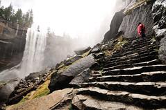 Admiring Vernal Falls (J-Fish) Tags: california waterfall nationalpark unescoworldheritagesite unesco yosemite yosemitenationalpark 179 209 232 mercedriver vernalfalls sigma1020mm misttrail 1020mmf456exdchsm d300s