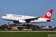 Turkish Airlines --- Airbus A319 --- TC-JLM (Drinu C) Tags: plane aircraft aviation sony airbus dsc turkish mla a319 turkishairlines lmml tcjlm hx100v adrianciliaphotography