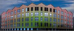 Rennes - Bulle d'Oxygène (Hervé Marchand) Tags: windows building architecture colours couleurs bretagne repetition bâtiment rennes fenetre urbain jeanpierremeignan