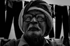When You Get old (arkamitralahiri) Tags: old portrait blackandwhite india man solitude monotone lonely grayscale banaras