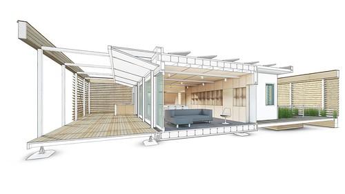 Stevens Solar Decathlon 2015 House Rendering Interior 1