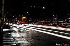 Streets of Milan (matteopisana) Tags: auto street milan car milano pace luci della arco freddo scie