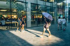 Untitled (Kevin.Beijing) Tags: china street light girl umbrella golden afternoon cross beijing