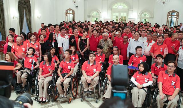 Team Singapore Athletes Visit To Istana
