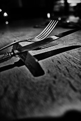 knife & fork (happy_camel) Tags: monochrome dinner knife sigma fork dp1quttro