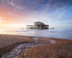 West Pier Sunrise (Julian@Hove) Tags: seascape sunrise sussex pier brighton westpier eastsussex britishseascapes leelittlestopper