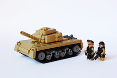 T01 - Tank (Devid VII) Tags: soldier war tank lego military tan tracks troopers vehicle soldiers wars fighting diorama vii moc armoured devid foitsop devidvii