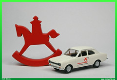 Ford Escort Mark I 1/87 (uslovig) Tags: horse ford germany toy deutschland 1 model wiking mark nuremberg fair franconia international 1967 ho franken 187 messe pferd modell escort nrnberg spielwarenmesse schaukelpferd 2015 h0 i nbg