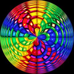 Ceci n´est pas une pipe (Marco Braun) Tags: farbig bunt coloured colored couleures multichrome abstract abstrait abstrakt circle kreis cercle polartransformation kreuz cross kruzifix croix kugel sphere boule regenbogen rainbow arcenciel kraftfeld power field spirale spiral spiralen spirals helix mucho color art variopinto