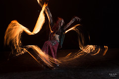 Flying with the fire (BettyNudler) Tags: lightpainting fire exposure low