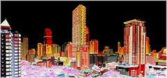 Digital City III (lukiassaikul) Tags: creativephotography photopainting digitalpainting cityscape imagemanipulation buildings architecture bangkok thailand