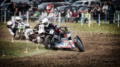 Hitting The Apex (Nigel Jones LRPS) Tags: race sidecar grasstrack nikefex colorefex frittenden