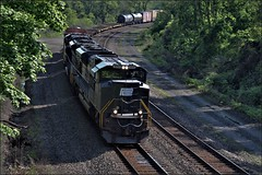 11V (Images by A.J.) Tags: railroad heritage train pc pittsburgh pennsylvania ns norfolk central rail railway line southern pa transportation penn freight torrance emd sd70ace