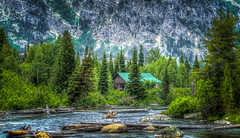 River and cabin in Grand Tetons (donnieking1811) Tags: mountains landscape outdoors grand rivers wyoming tetons cabins