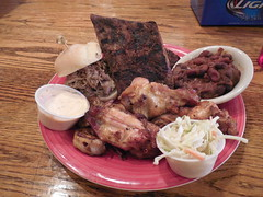 The Smoked Super Sampler (jimmywayne) Tags: restaurant bbq westvirginia barbecue barbeque elkins smokeonthewater randolphcounty