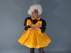 mellow yellow (queerina) Tags: camp shiny crossdressing smoking queen sissy poofter transvestite dragqueen queer crossdresser pvc mincing poof flamer effeminate heavymakeup mincer limpwristed transvestism smokingcrossdresser effeminacy