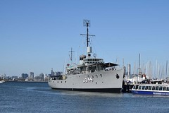 "HMAS Castlemaine (J244) 89 • <a style=""font-size:0.8em;"" href=""http://www.flickr.com/photos/81723459@N04/26885357193/"" target=""_blank"">View on Flickr</a>"
