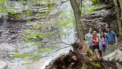 Waterfall Groupies (DerekSteen) Tags: trees nature waterfall hiking pennsylvania proposal jimthorpe djsteen dereksteen glenonokofalls sarahbuttillo corymoore lydiahoyle rodmarstell