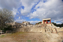 Palace of Knossos- Crete, Greece (Flortography) Tags: city sky building history tourism stone landscape temple lumix site ancient ruins europe day foto royal palace jour greece crete daytime fotografia complex mythology nationaltreasure heraklion attraction minoan minos cretan professionalphotography autofocus