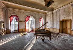the last shine (richter christian) Tags: old music abandoned window rotting decay room ruin piano dirty indoors forgotten baroque damaged lostplace