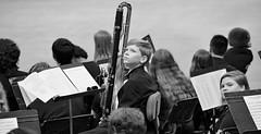 Starstruck (BKHagar *Kim*) Tags: boy portrait bw musician music candid band graduation orchestra instrument contrabass youngman woodwind clarinet bkhagar