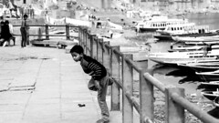 @ Varanasi, UP (Kals Pics) Tags: life travel boy people blackandwhite india monochrome childhood river children fun boats blackwhite kid play action pov perspective divine holy sacred varanasi moment railing spiritual colorless ganga historiccity ganges ghats roi benares kasi cwc uttarpradesh ancientcity incredibleindia spiritualcapital rootsofindia kalspics chennaiweelendclickers