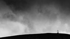 A moment of redemption (Galep Iccar) Tags: sky people blackandwhite mountain canon landscape cross gente faith fede paesaggio biancoenero croce norcia castelluccio veletta monteveletta