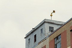 Buildings and Siren (christopher_harness) Tags: sky building brick abandoned buildings outdoors downtown outdoor bricks siren