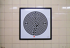 Labyrinth 105/270 (R~P~M) Tags: uk greatbritain england london art station train unitedkingdom railway londonunderground labyrinth pimlico wallinger enamel vitreousenamel