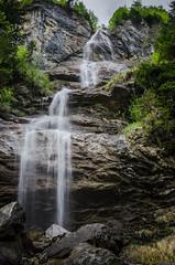 Wasserfall1-0870 (math.buechel) Tags: longexposure color water berg schweiz switzerland waterfall nikon wasser suisse wasserfall kandersteg farbe langzeitbelichtung blausee d7000 nikond7000