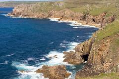 Clliffs Lands End (Tangoman11) Tags: ocean blue sea england sky nature water coast scenery cornwall waves britain outdoor cliffs atlantic landsend lanscape