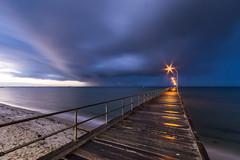 Wet Warning (Marty Friedel) Tags: longexposure morning seascape wet water rain clouds sunrise landscape pier jetty au australia melbourne victoria lee filters altona portphilipbay