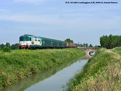 FS D.345.1063 - Vicobellignano (CR) - 20/05/2014 (Patuzmn) Tags: diesel merci d mantova parma brescia treno coils 345 marcegaglia casalmaggiore tradotta